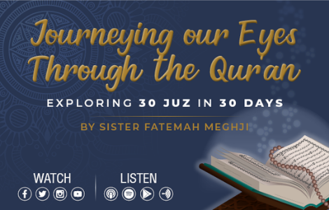 Journeying our eyes through the Quran